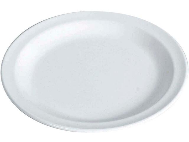Waca Plate Melamine Flat 23,5cm, blanco